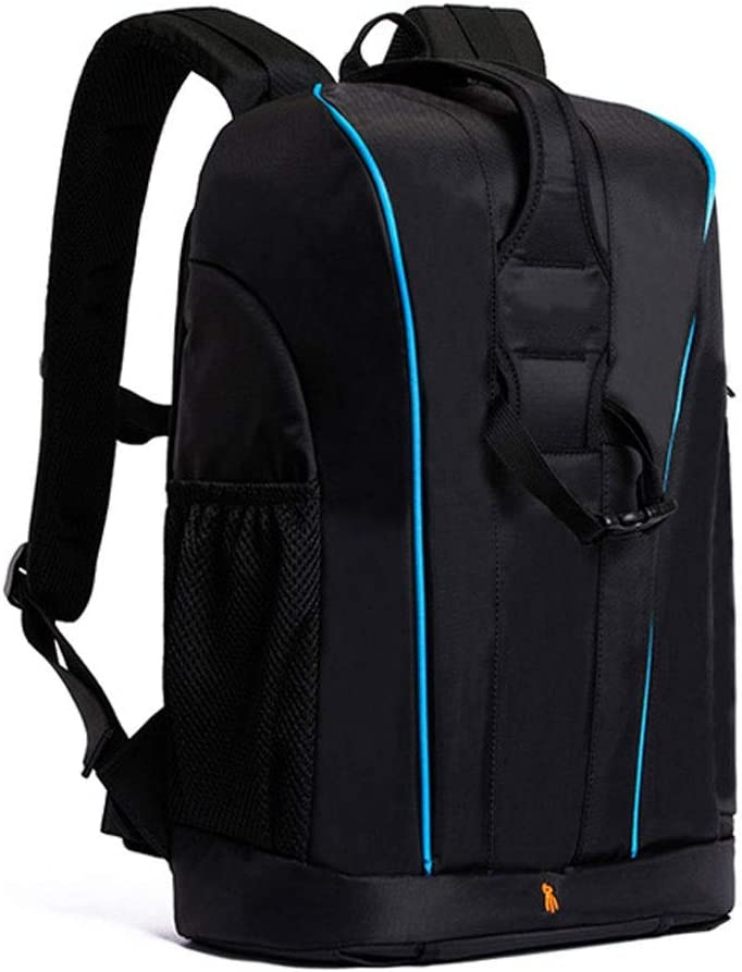 Nylon Camera Backpack Bag with and Rain Cover for DSLR Slivy Large Capacity Travel Backpack Camera Case Flash or Other Accessories Mirrorless Camera Color : Blue