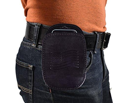 BLUESTONE 3 in 1 Leather Vertical Universal Belt Clip Phone Case - Black