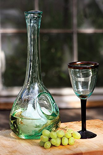 Recycled Glass Beverage Chilling Carafe by Kalalou (Recycled Glass Carafe)
