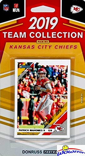 Kansas City Chiefs 2019 Donruss NFL Football Limited Edition 12 Card Complete Factory Sealed Team Set with Patrick Mahomes, Travis Kelce, Carlos Hyde,Tony Gonzalez & Many More Stars & Rookies! WOWZZER