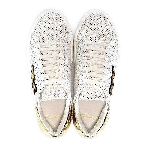 Pinko Kvinder 1h209y395hz1 Hvide Læder Sneakers xW6oxGqBO