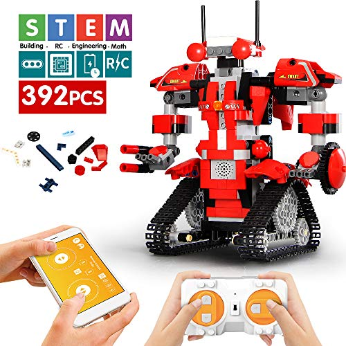 Remote Control Building Block Robot Bricks STEM Toys with LED Intelligent Charging Gift for Boys and Girls
