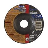 Norton Norzon Plus Type 27 Abrasive Depressed Center Wheel, Ceramic Alumina, 13580 rpm, 4-1/2'' Diameter x 1/4'' Thickness, 7/8'' Arbor (Pack of 2)
