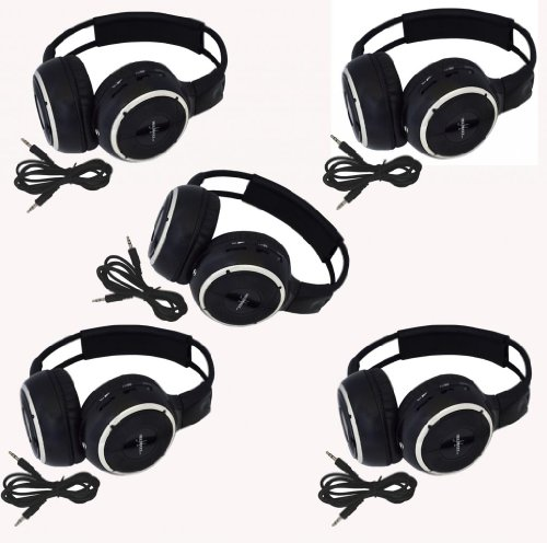five-pack-of-two-channel-folding-adjustable-universal-rear-entertainment-system-infrared-headphones-