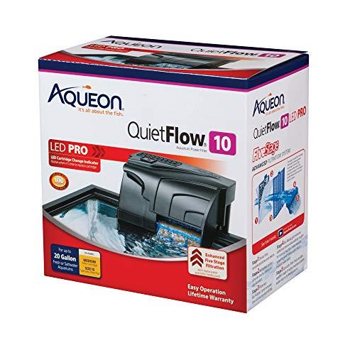 Aqueon QuietFlow Aquarium Filters, Size 10-100GPH