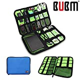 BUBM Fashion Cable Organizer Bag Travel Case Digital Storage Bag with Zipper/ Healthcare & Grooming Kit (Dis Sky Blue Medium)
