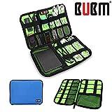 BUBM Fashion Cable Organizer Bag Travel Case Digital Storage Bag with Zipper/Healthcare & Grooming Kit (Dis Sky Blue Medium)
