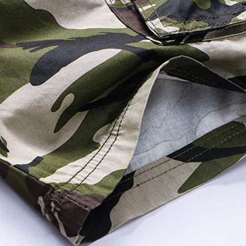 ITISME Verde Impero Jeanshosen Uomo Militare Pantaloncini On74OvqxSw