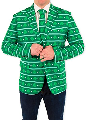 Festified Men's Irish I Was Drunk ST. Patrick's Day Suit Coat (52)
