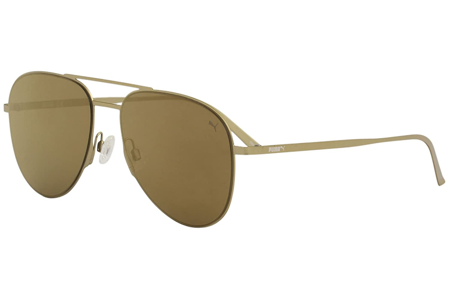 Amazon.com: anteojos de sol Puma PU 0160 S- 005 oro/: Clothing