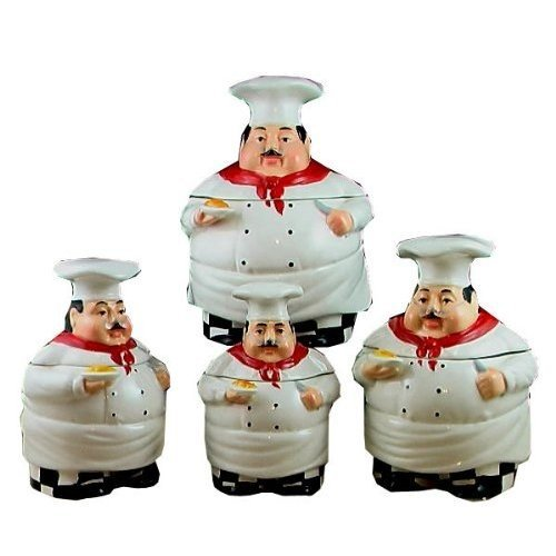 Fat Chef Kitchen: Fat Chef Kitchen Canister Set Of 4
