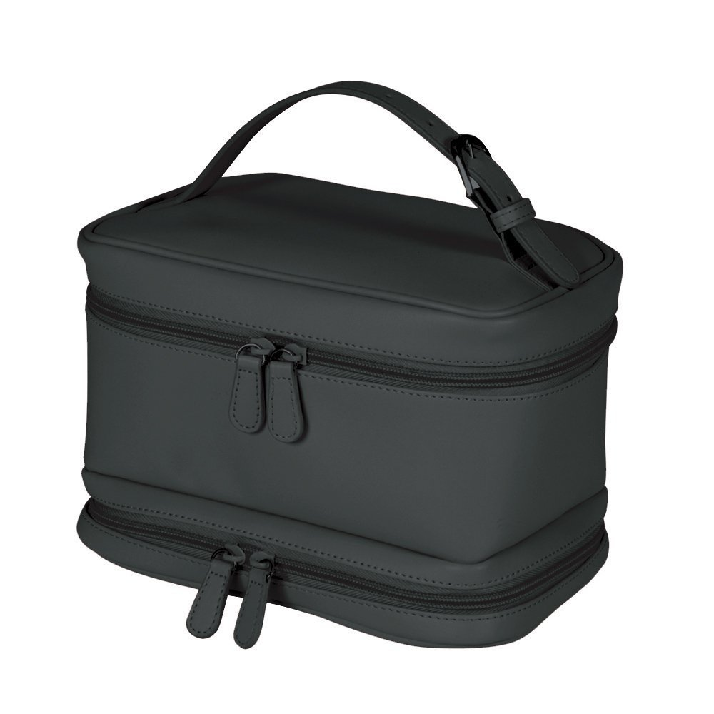 Royce Leather Ladies Cosmetic Travel Case (Black) by Royce Leather