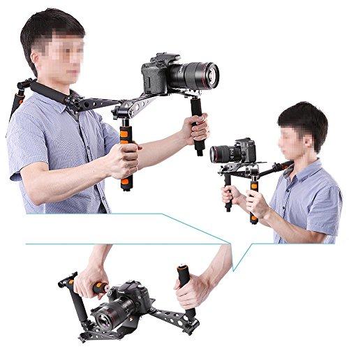 Neewer® Aluminium Alloy Foldable DSLR Rig Movie Kit Film Making System Shoulder Mount Support Rig Stabilizer for Digital SLR Camera and Camcorder, such as Canon 5D Mark II III 1D 7D 60D 700D 650D 600D 550D Rebel T5i T4i T3i T2i, Nikon D4 D800 D700 D300 D90 D5000 D7000 D7100 D7200, Sony A7 A7R A7S A7II A6000 NEX-5 NEX-7 A65 A55 A33 A580 A560 (Orange)