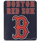 "MLB Lightweight Fleece Blanket (50"" x 60"") (Boston Red Sox)"