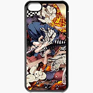 Personalized iPhone 5C Cell phone Case/Cover Skin Alice Knife Hatter Caterpillar Madness Blood Black