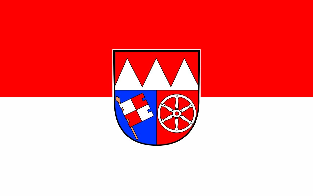 Flagge/Fahne UNTERFRANKEN Staatsflagge/Landesflagge/Hissflagge mit Ö sen 150x90 cm, gute Qualitä t Sportfanshop24