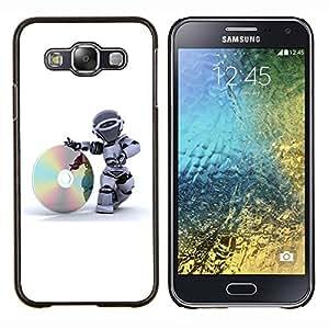 For Samsung Galaxy E5 E500 Case , CD Robot- Diseño Patrón Teléfono Caso Cubierta Case Bumper Duro Protección Case Cover Funda