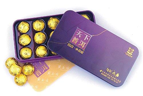 Chariot Trading - organic health cooked tea , Premium golden mini Tuo 45g ()