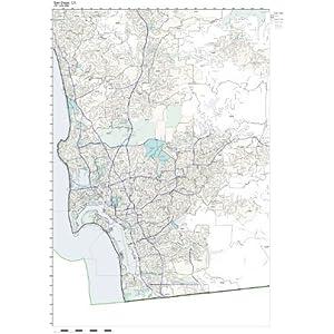 Amazon.com: ZIP Code Wall Map of San Diego, CA ZIP Code Map Not ...