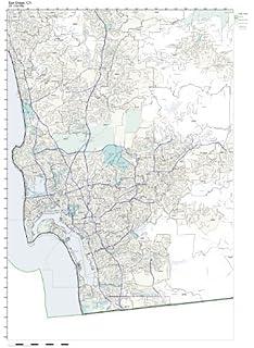 Amazon.com: ZIP Code Wall Map of Charlotte, NC ZIP Code Map ... on