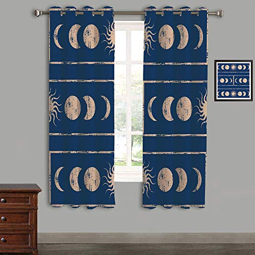 Polyester Curtains Back Tab and Rings top Outdoor Curtains 2 Panels,58