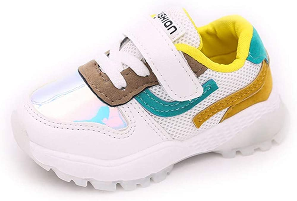 YanHoo Zapatos para niños Colores Mezclados Parche Malla Deporte ...
