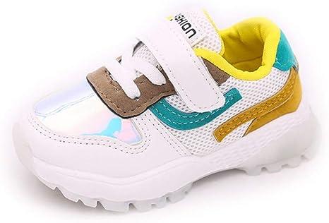 YanHoo Zapatos para niños Colores Mezclados Parche Malla Deporte Zapatos Ocasionales Los niños y niñas de los niños de Malla de Costura Color Transpirable Zapatos Deportivos Zapatillas Deportivas: Amazon.es: Ropa y accesorios