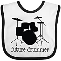 Inktastic - Future Drummer Baby Bib White/Black