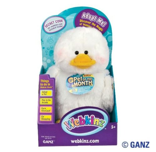 Webkinz Duck March Pet of the Month in Box with Trading Cards