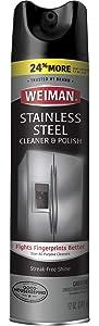 Weiman Stainless Steel Cleaner & Polish Aerosol - 12 oz, 12 Fl Oz