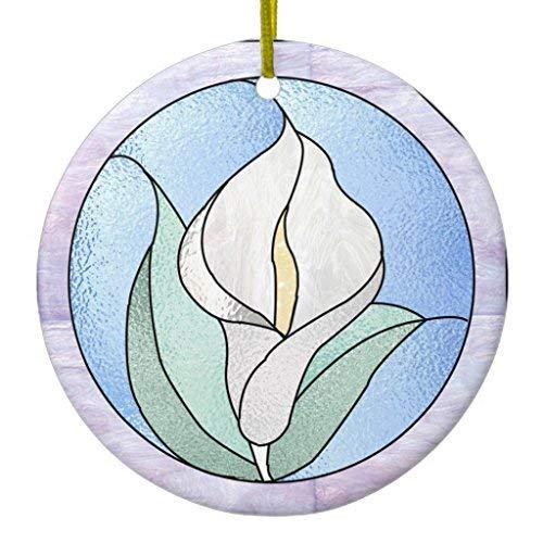 Ditooms Calla Lily Ceramic Ornament Circle 3 Inches ()