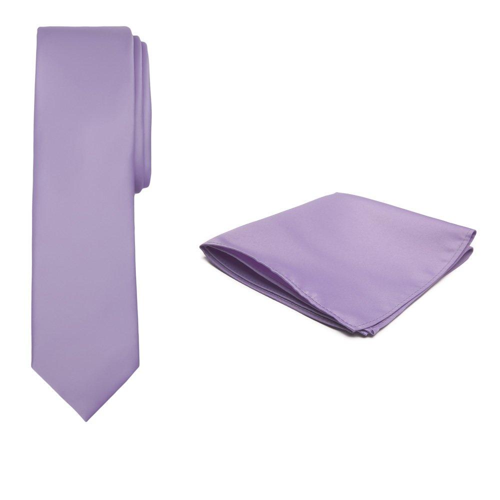 Violet Purple Jacob Alexander Solid Color Boys Regular Tie and Hanky Set