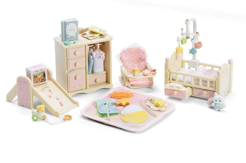 Calico Critters Deluxe Baby's Nursery Set (Renewed)