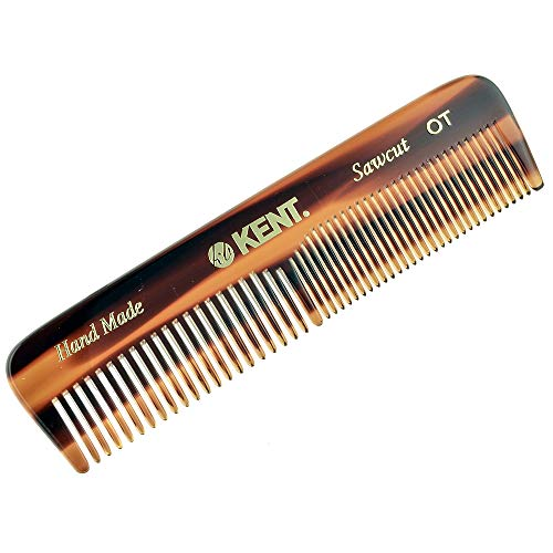 Kent OT 4 1/2″ 112mm Handmade Gentleman Pocket Comb Coarse/Fine for Men Sawcut