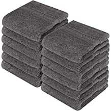 Utopia Towels Premium 700 GSM Cotton Washcloths - 12 Pack, Dark Grey, 12 x 12 Inches Extra Soft Wash Cloths