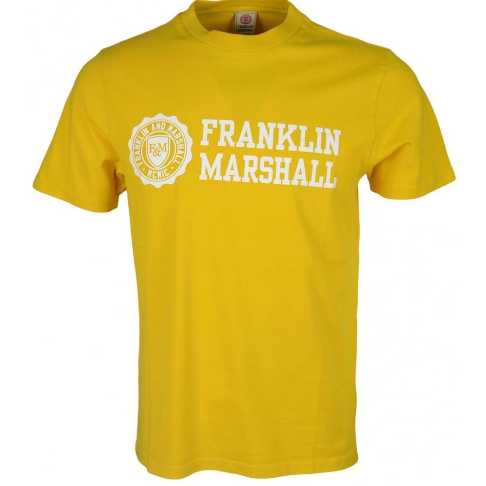 【フランクリンマーシャル メンズ】バーロゴ Tシャツ MILK FRANKLIN&MARSHALL B07CCZFHVT  Hot Sunset Yellow XX-Large