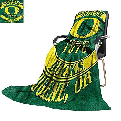 (Blankets Fleece Blanket Throw,Oregon Ducks NCAA Royal Plush Raschel Blanket, Rebel Series for Sofa Bed 50