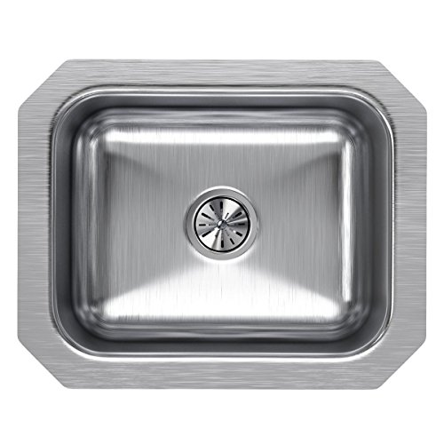 Elkay Lustertone ELUH129 Single Bowl Undermount Stainless Steel Bar Sink (Elkay Lustertone Bar Sinks)