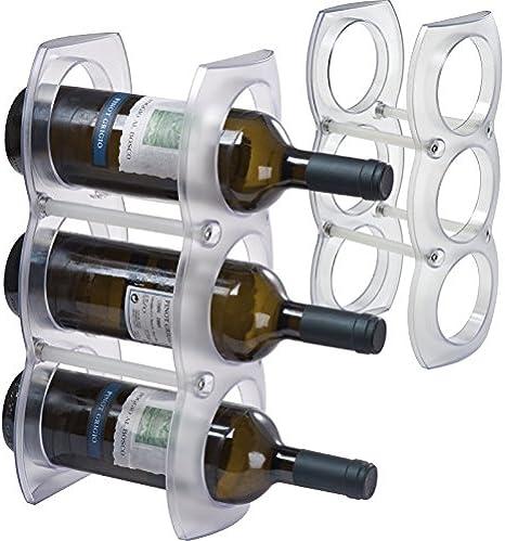 ohne Markenname Botellero de plástico para 3 Botellas