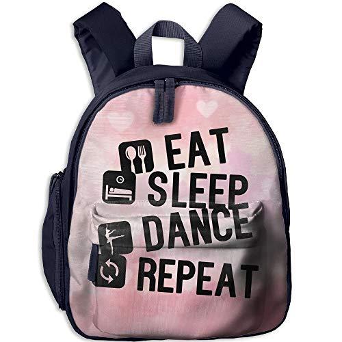 Kindergarten Backpack Eat Sleep Dance Repeat Children School Bag