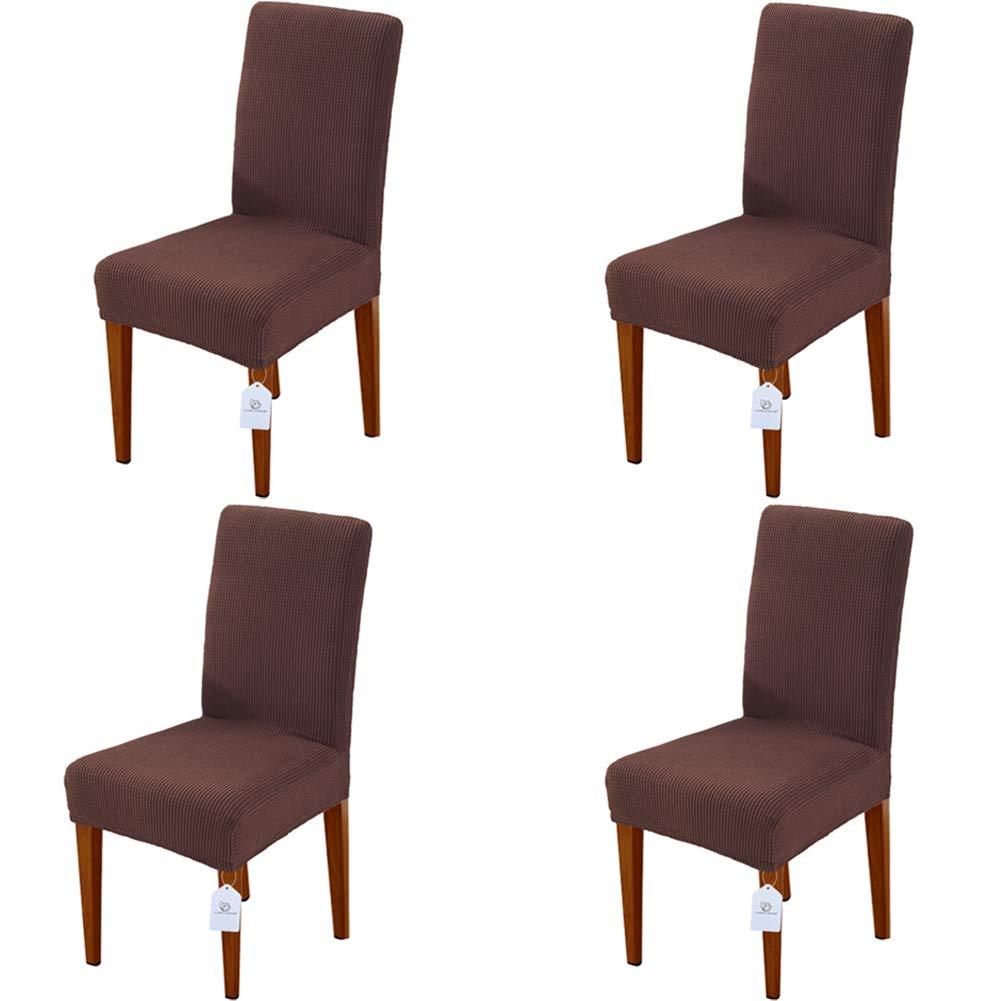 LUOLLOVE Housses de chaises, Extensible Amovible Lavable Housse de Chaise de Salle a Manger, Housse Chaise La Bande Élastique Maison,Hôtel,Banquet(2-Pièces, Grises) WMGoods