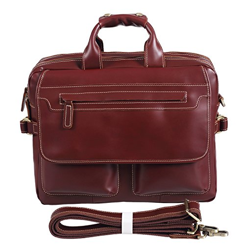 Polare Italian Leather Briefcase Should Bag Attache Fit 15.6inch Laptop by Polare (Image #1)