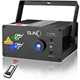 SUNY Laser Light Professional Music Laser Projector 18 Gobos Green Blue Laser Blue LED Projector Remote Control Sound Activated Stage Light DJ Disco Show Home Decorative Holiday Birthday Family Party Review
