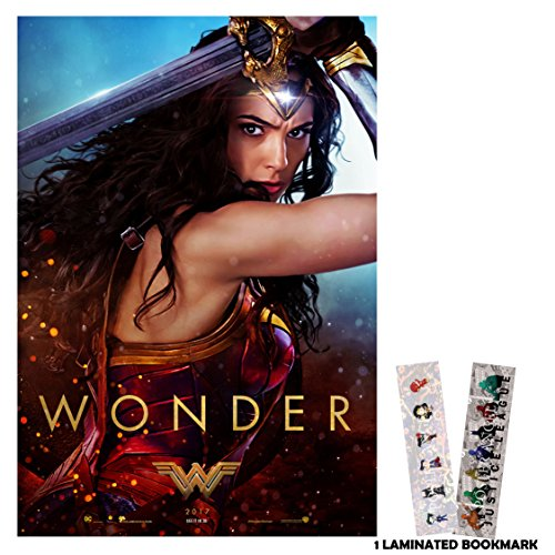 Wonder Woman (2017) - Wonder - 13 in x 19 in Movie Poster Flyer Borderless + Free Bookmark