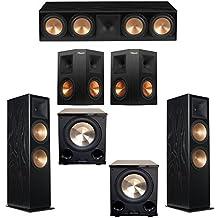 Klipsch 5.2 Black Ash System with 2 RF-7 III Floorstanding Speakers, 1 RC-64 III Center Speaker, 2 Klipsch RP-250S Surround Speakers, 2 Klipsch PL-200II Subwoofers