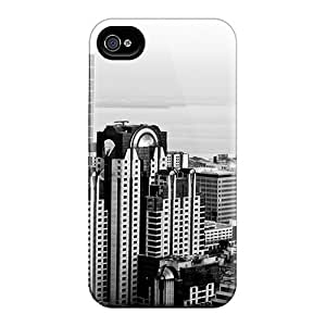 Cute Appearance Cover/tpu The Future Of The City Case For Iphone 4/4s
