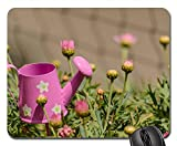 Mouse Pad - Flowers Watering Can Casting Pot Water Plant