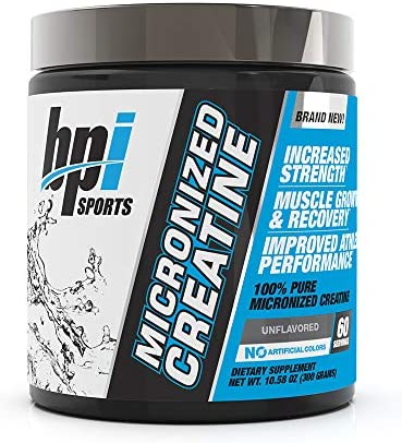 BPI Sports Micronized Creatine – Increase Strength – Reduce Fatigue – Lean Muscle Building – 100 Pure Creatine – Better Absorption – Supports Muscle Growth – Unflavored – 60 Servings – 10.58 Ounce