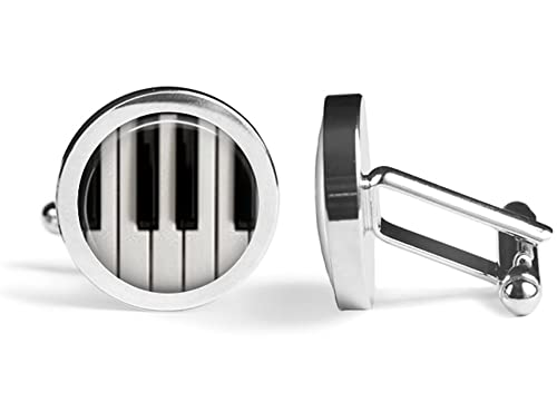 Oakmont Cufflinks Grand Piano Cuff Links Angled Edition