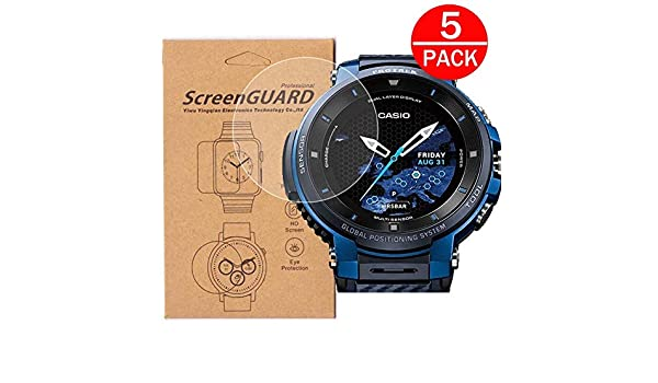 Protector de Pantalla para Reloj Casio WSD-F30, Cobertura ...
